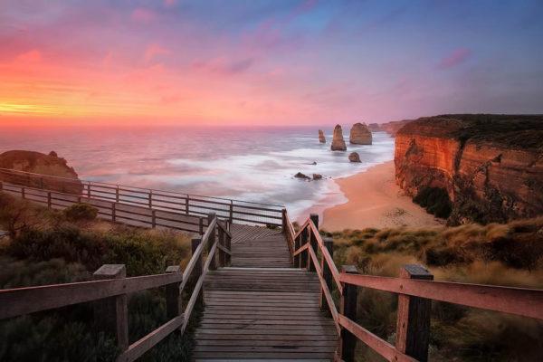 tramonto sui 12 apostoli