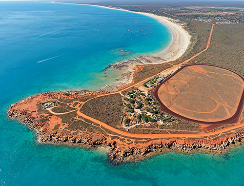 Aerial view of Gantheaume Point and Cable Beach, Broome, Western Australia